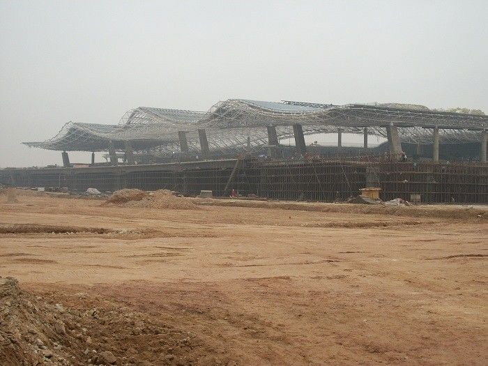 Low Carbon Truss Structural Steel Frame For JieYang Airport Project