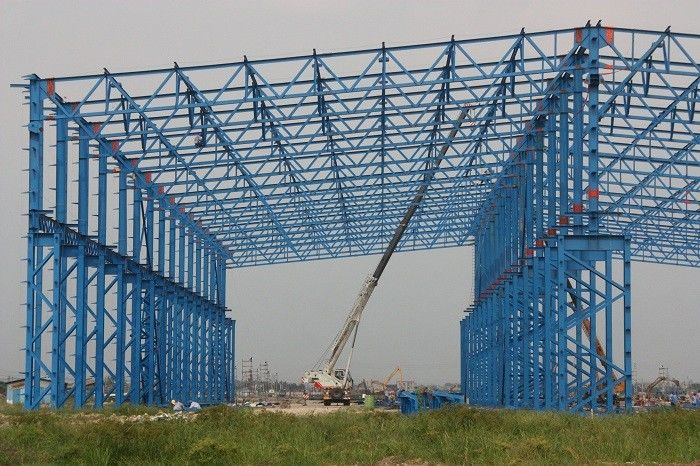 ISO Standard Larger Span Workshop Steel Structure Construction