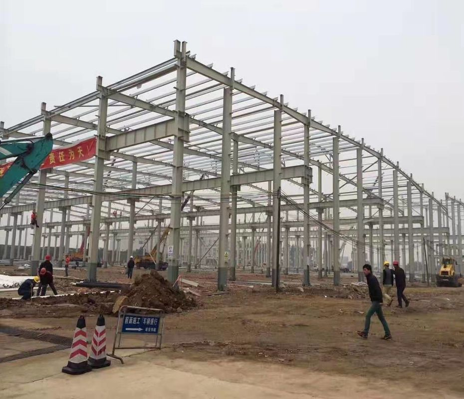 JIS , DIN Standard Poultry Farm Structure With H Section Column / Beam