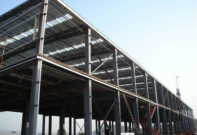 Recyclable Garage Steel Frame For Indurstrail Parks / Milk Processing Factory
